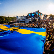 Swedish Avicii flag at Tomorrowland 2018