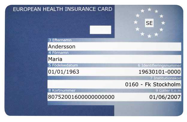 Health insurance card - Important for illness abroad